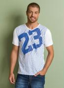 Camiseta Branca Estampa Frontal 23