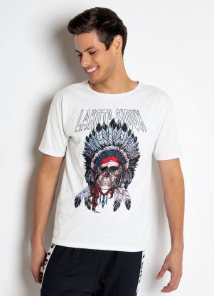 Camiseta Caveira com Cocar (Branca)