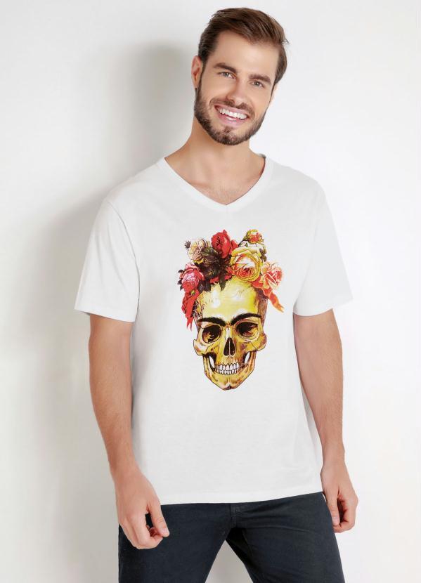 Camiseta Caveira Mexicana Xande (Branca)