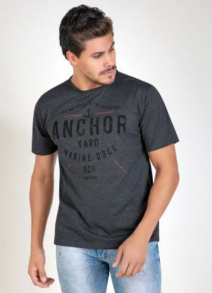 Camiseta (Chumbo) com Mangas Curtas