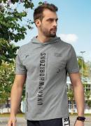 Camiseta com Capuz Unknow Mescla