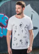 Camiseta com Estampa Frente Branca