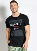 Camiseta com Estampa na Frente Preta