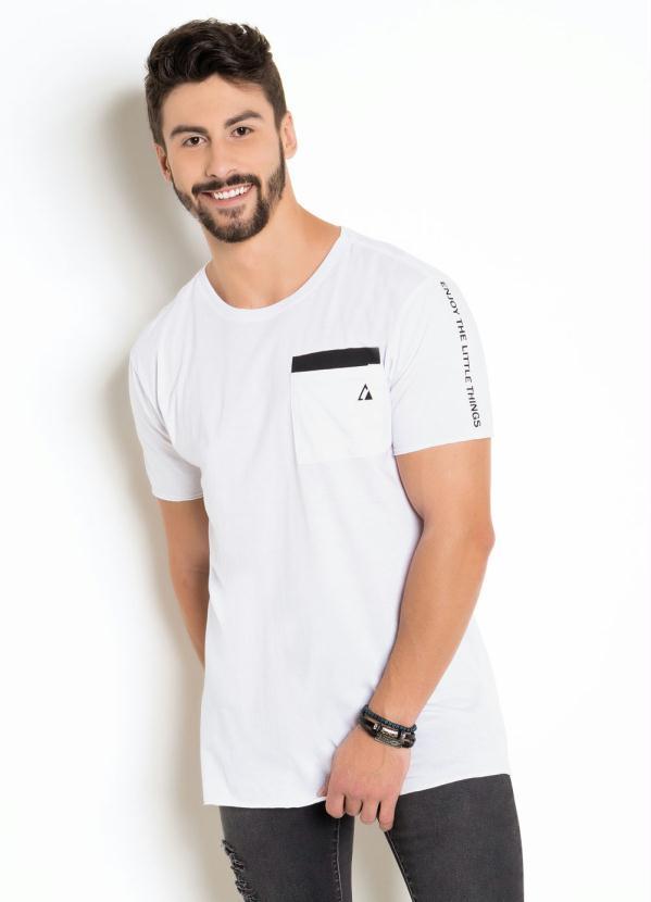 Camiseta (Branca)Com Estampa nas Costas