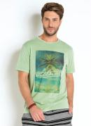 CAMISETA COM ESTAMPA TROPICAL ACTUAL (VERDE)