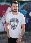 Camiseta Estampa Caveira Mexicana Branca
