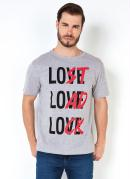 Camiseta Masculina Love Lost Load Lock Mescla