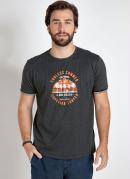 Camiseta Mescla Chumbo Verão Califórnia