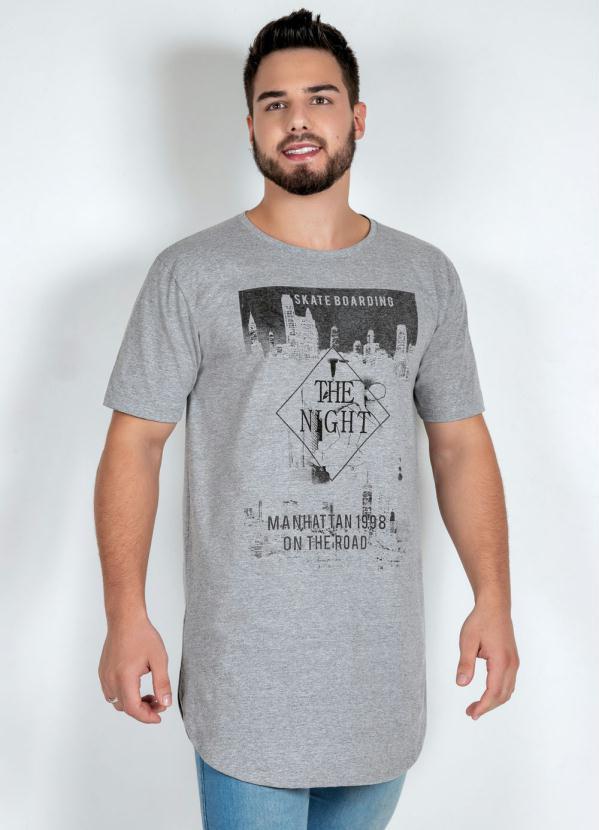 Camiseta (Mescla) com Barra Arredondada