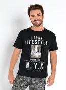 Camiseta Preta com Estampa