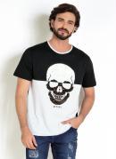 Camiseta Preta e Branca com Paetê Reversível