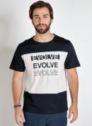 Camiseta Preta e Branca com Recortes Frontais