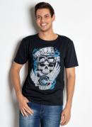 Camiseta Skull Racer Preta
