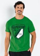 Camiseta Verde com Estampa Frontal
