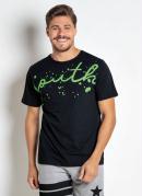 Camiseta Estampa Respingos Preta