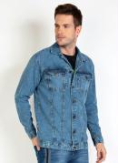 Jaqueta Jeans Estampa Costas
