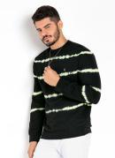 Casaco Tie Dye Preto com Detalhe Neon