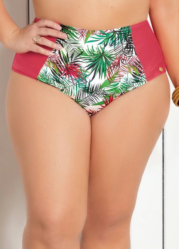 Calcinha Biquíni Plus Size (Rosa) Modelo Hot Pant
