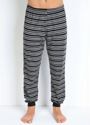 Calça Pijama Masculino (Cinza e Preto)