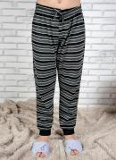 Calça Pijama Infantil Mescla e Preto