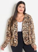 BLAZER ANIMAL PRINT (ONÇA) PLUS SIZE MARGUERITE