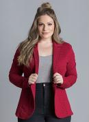 BLAZER DE MOLETOM (POÁ BORDÔ) PLUS SIZE