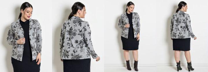 2fee1d9461 Score  0.0 Blazer Plus Size Mescla Floral