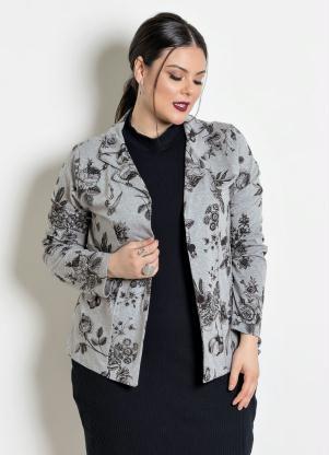 80c7beb099 Blazer Plus Size Mescla Floral - Quintess