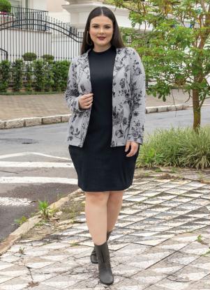 2802fdc335 Blazer Plus Size Mescla Floral - SouLojista