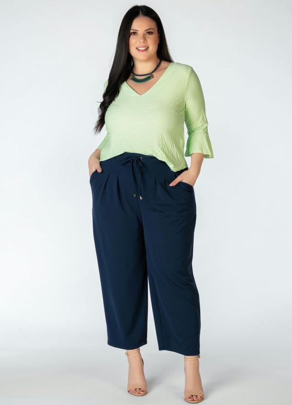 Blusa Plus Size (Verde Menta)