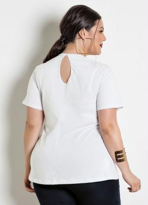 8c2d26bde49240 Blusa Peplum Branca Detalhe Gota Plus Size - Quintess