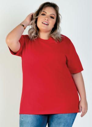 Camiseta Unissex Plus Size (Vermelha)
