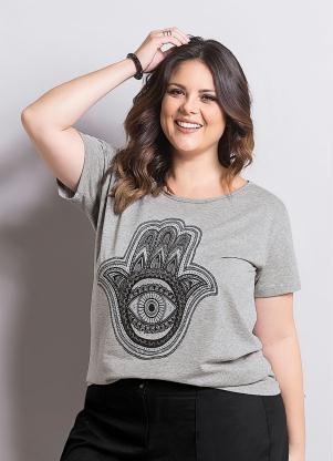 T-Shirt Marguerite (Mescla) Plus Size