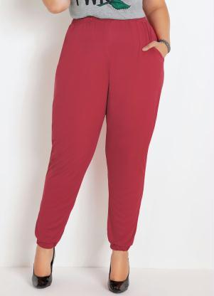 Calça Jogger (Vermelha) Plus Size