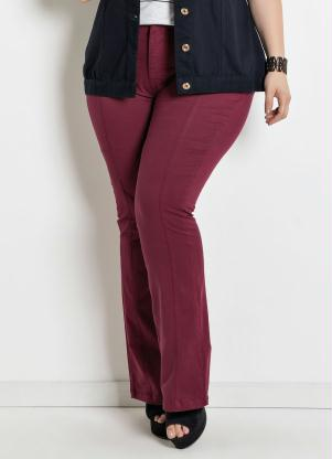 400b6d2c2 Calça Flare Plus Size Bordô - Quintess