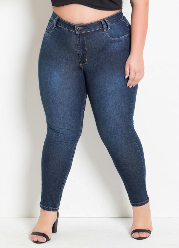 Calça (Jeans) Cigarrete Plus Size Levanta Bumbum