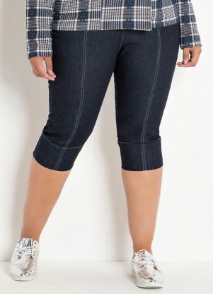 Calça (Jeans) Cropped Plus Size
