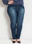 Calça Jeans Skinny Plus Size Quintess