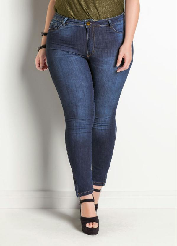 Calça Jeans Sawary Modelo Legging Plus Size (Azul)