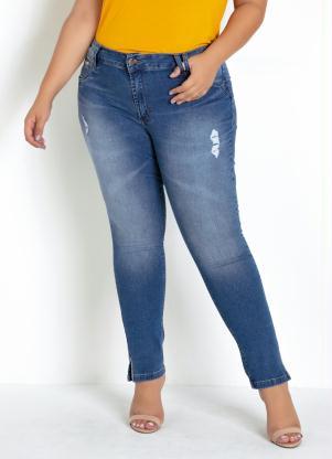 Calça Sawary Plus Size (Jeans) com Strass