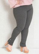 CALÇA LEGGING (CINZA) QUINTESS PLUS SIZE