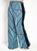 Calça Azul com Recortes Laterais Plus Size
