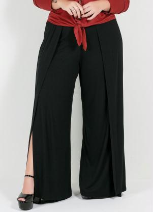 Calça Plus Size Pantalona (Preta)