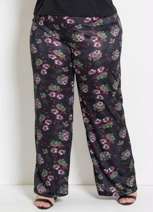 0ea05cc40 Pantalona Floral Plus Size Marguerite - SouLojista