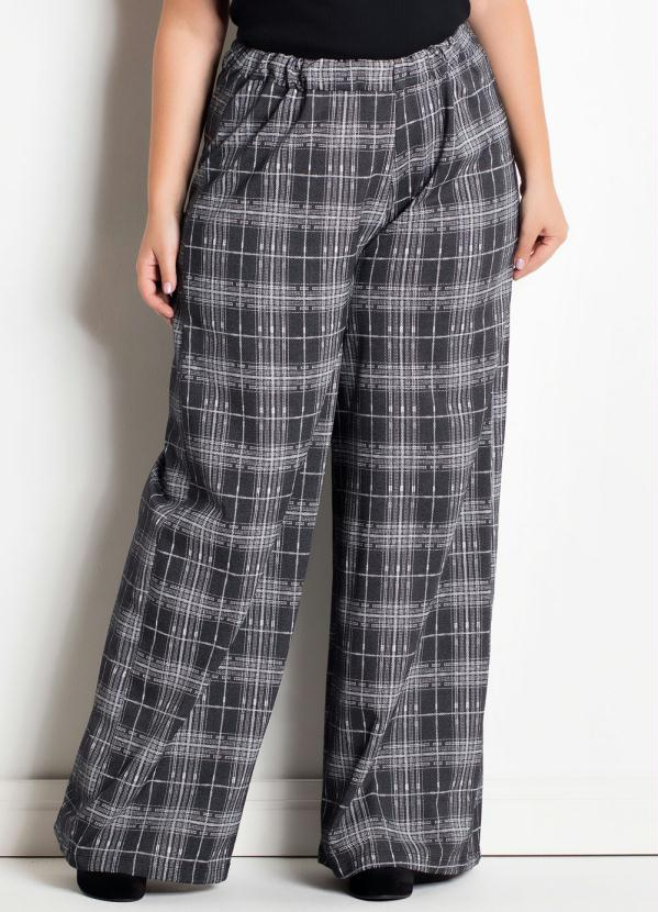 Pantalona (Xadrez) Marguerite Plus Size