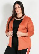 Cardigan Plus Size Telha de Sued