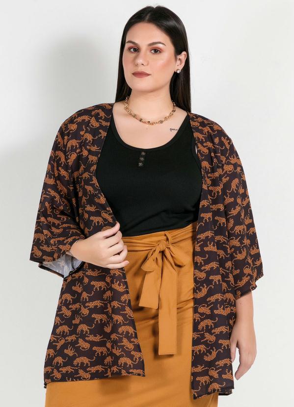 Kimono Plus Size (Estampado) Oncinhas