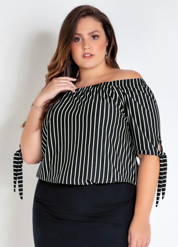 Blusa Ciganinha Plus Size (Listrada)