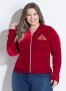 Jaqueta Vermelha com Detalhe Frontal