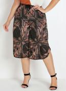 PANTACOURT COM FENDAS (ABSTRATA) PLUS SIZE